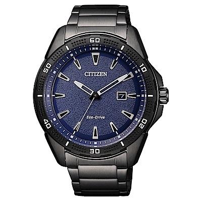 CITIZEN 星辰光動能簡約時尚手錶(AW1585-55L)-藍X黑/45mm