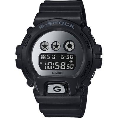 CASIO 卡西歐 G-SHOCK 經典坦克手錶-鏡面銀(DW-6900MMA-1)