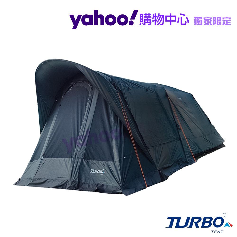 【Turbo Tent】Tourist 270 單件式ㄧ房一廳六人帳篷-強化版忍者黑