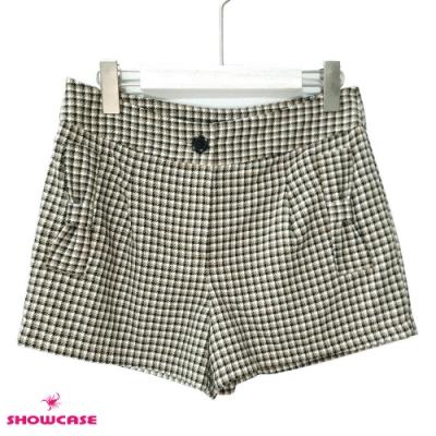 【SHOWCASE】格紋蝴蝶結口袋短褲-卡