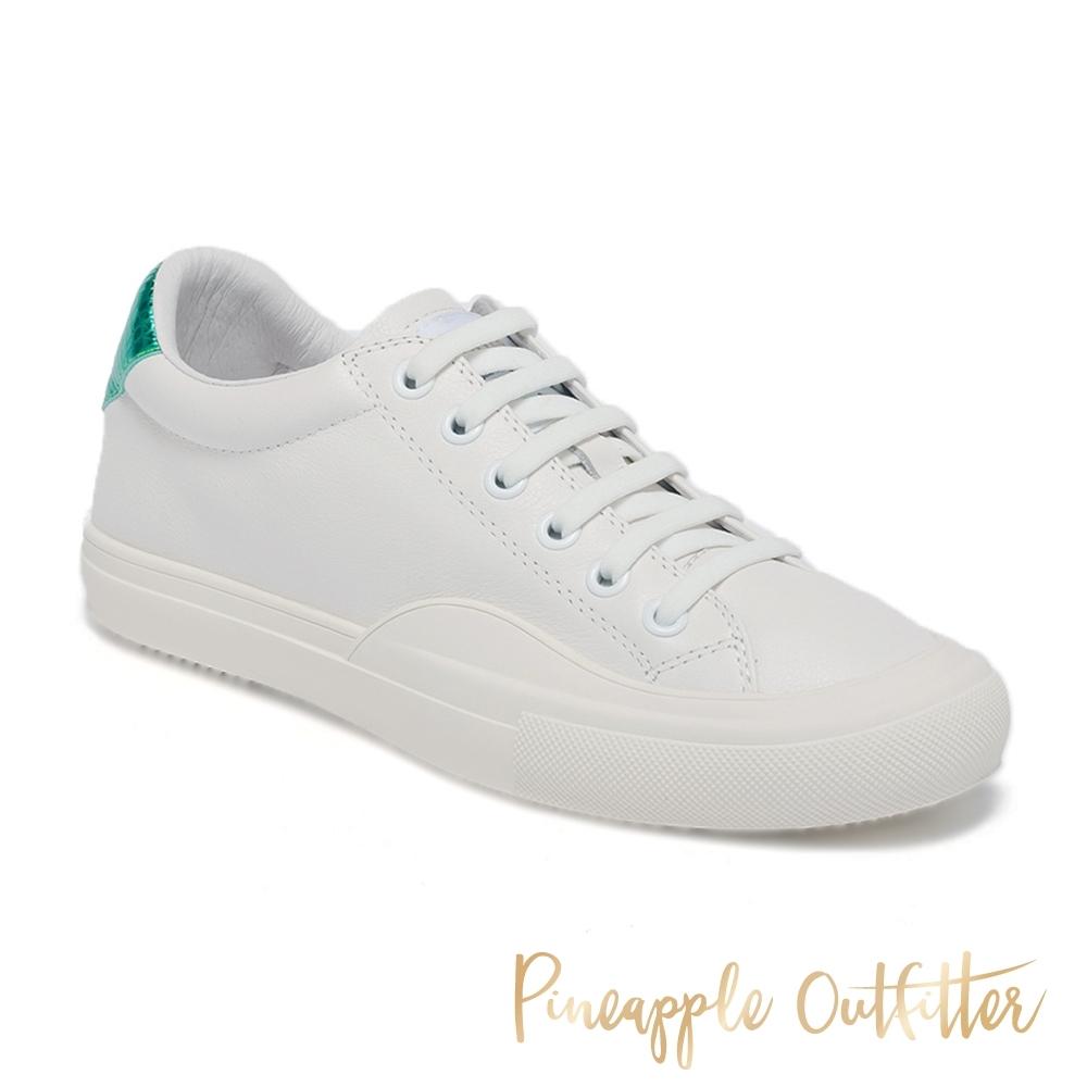 Pineapple Outfitter-CHAZ 真皮時尚百搭綁帶休閒小白鞋-綠色