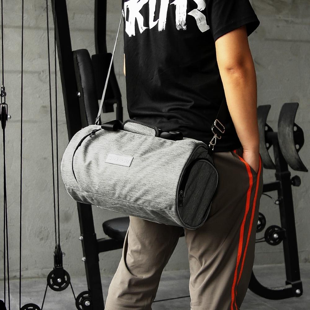 E.City_(2入)大容量圓筒旅行運動健身包