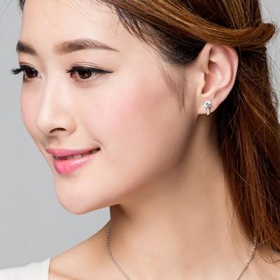 梨花HaNA 韓國925銀女人香單鑽耳環
