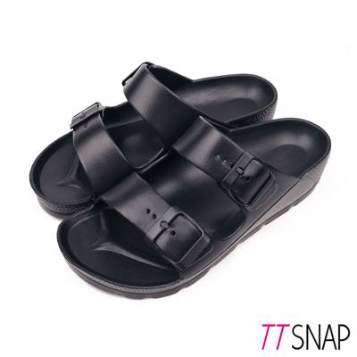 TTSNAP拖鞋-MIT輕量運動休閒拖鞋 黑