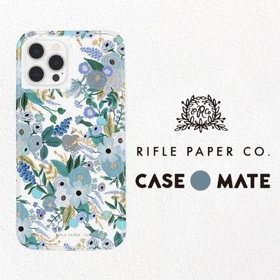 美國 Case-Mate iPhone 13 mini Rifle Paper Co.限量聯名款防摔抗菌手機保護殼 - 花園派對/藍