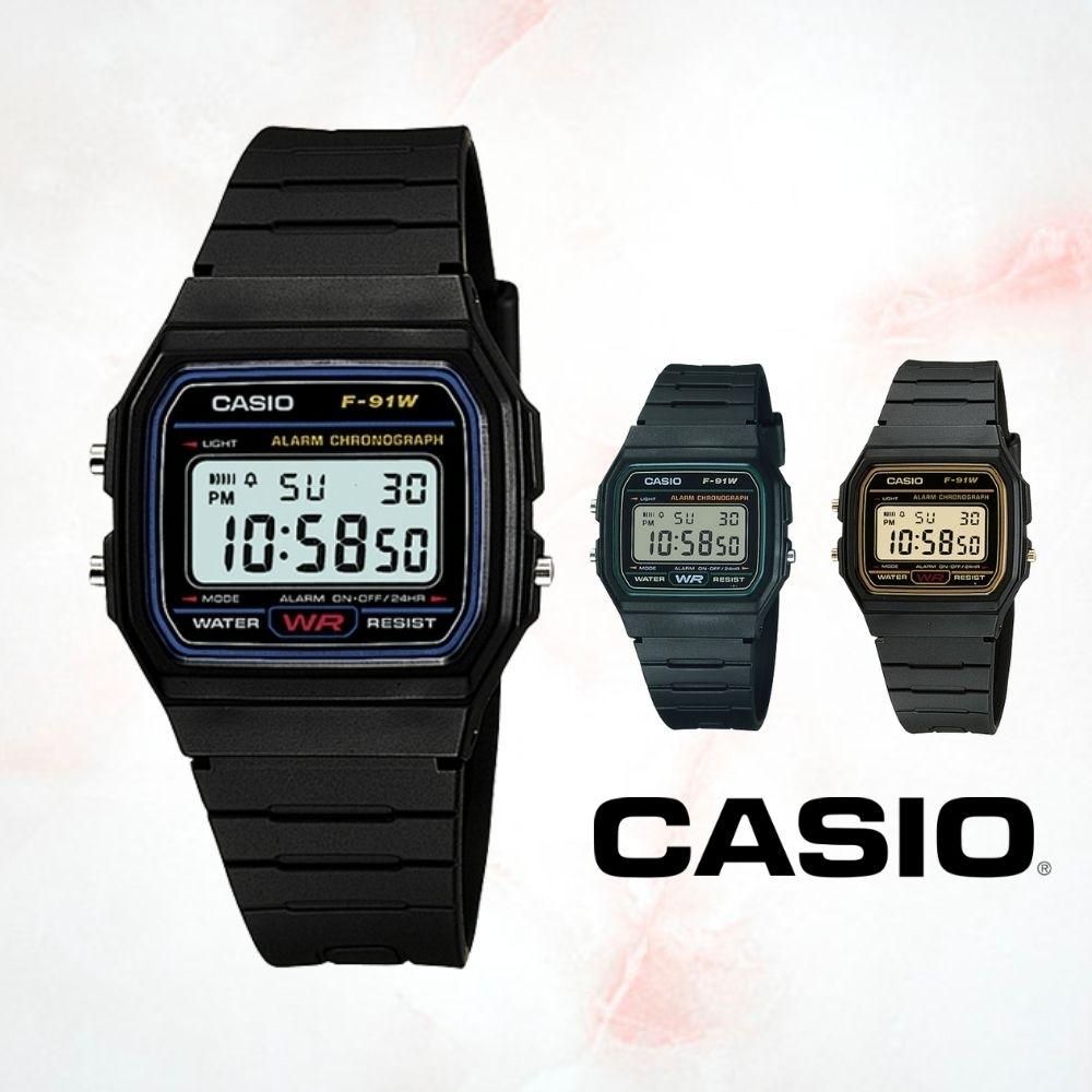CASIO卡西歐 復古方型簡約電子錶(F-91W)