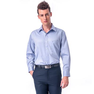 【金安德森】淡紫變化領長袖襯衫