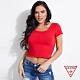 GUESS-女裝-滾邊針織短袖上衣-紅 原價1290 product thumbnail 1