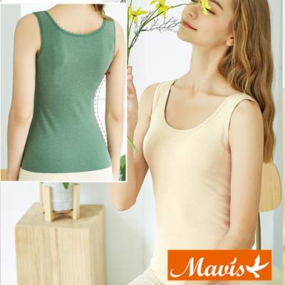 Mavis瑪薇絲-陽離子保暖發熱罩杯背心/BRA背心(膚色)