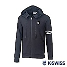 K-Swiss Hooded Sweat Zip up休閒連帽外套-男-黑