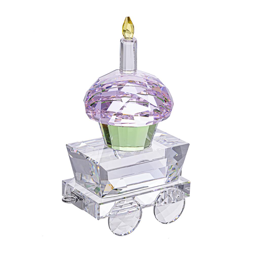 SWAROVSKI施華洛世奇 蛋糕車水晶擺飾
