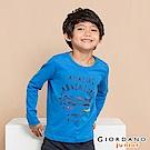 GIORDANO 童裝冒險旅程印花長袖T恤-13 法國藍
