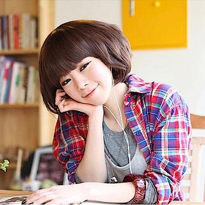 米蘭精品 女假髮整頂短假髮-蓬鬆捲髮俏皮可愛女美髮用品3色69o77