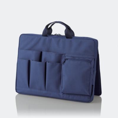 ELECOM 站立收納袋中袋(橫式)-藍