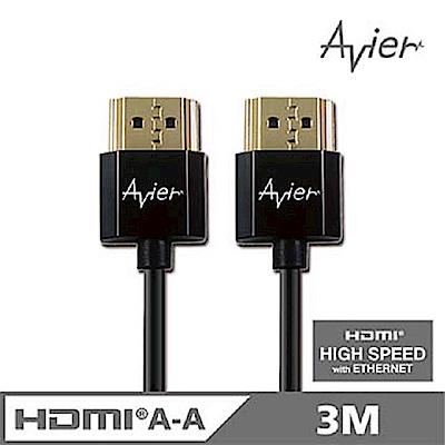 【Avier】HDMI A-A傳輸線~1.4超薄極細版/3M