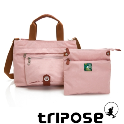 tripose 微旅系列輕旅機能後背斜背包 玫瑰粉