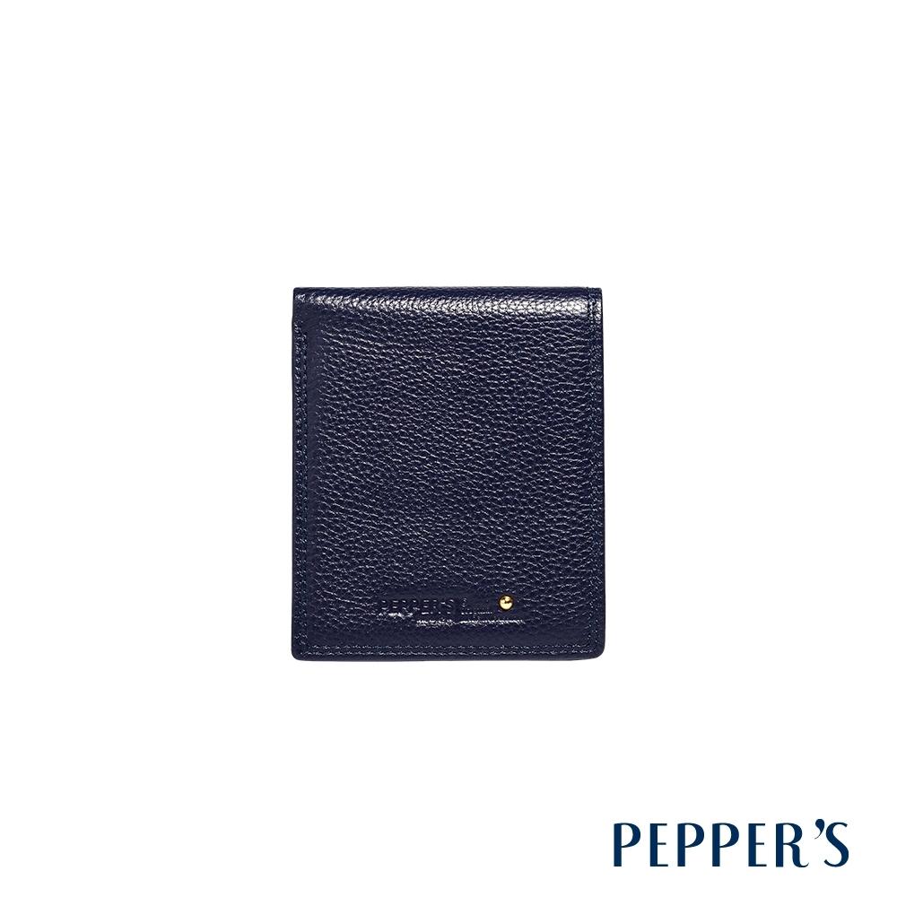 PEPPER'S Blake 牛皮摺疊短夾 - 午夜藍