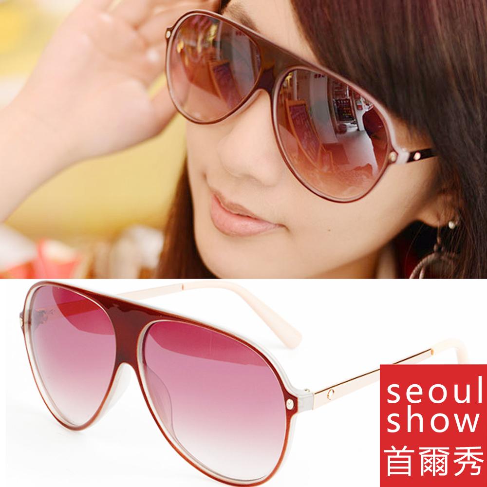 Seoul Show 斯特拉克 飛行款太陽眼鏡 9046 酒紅
