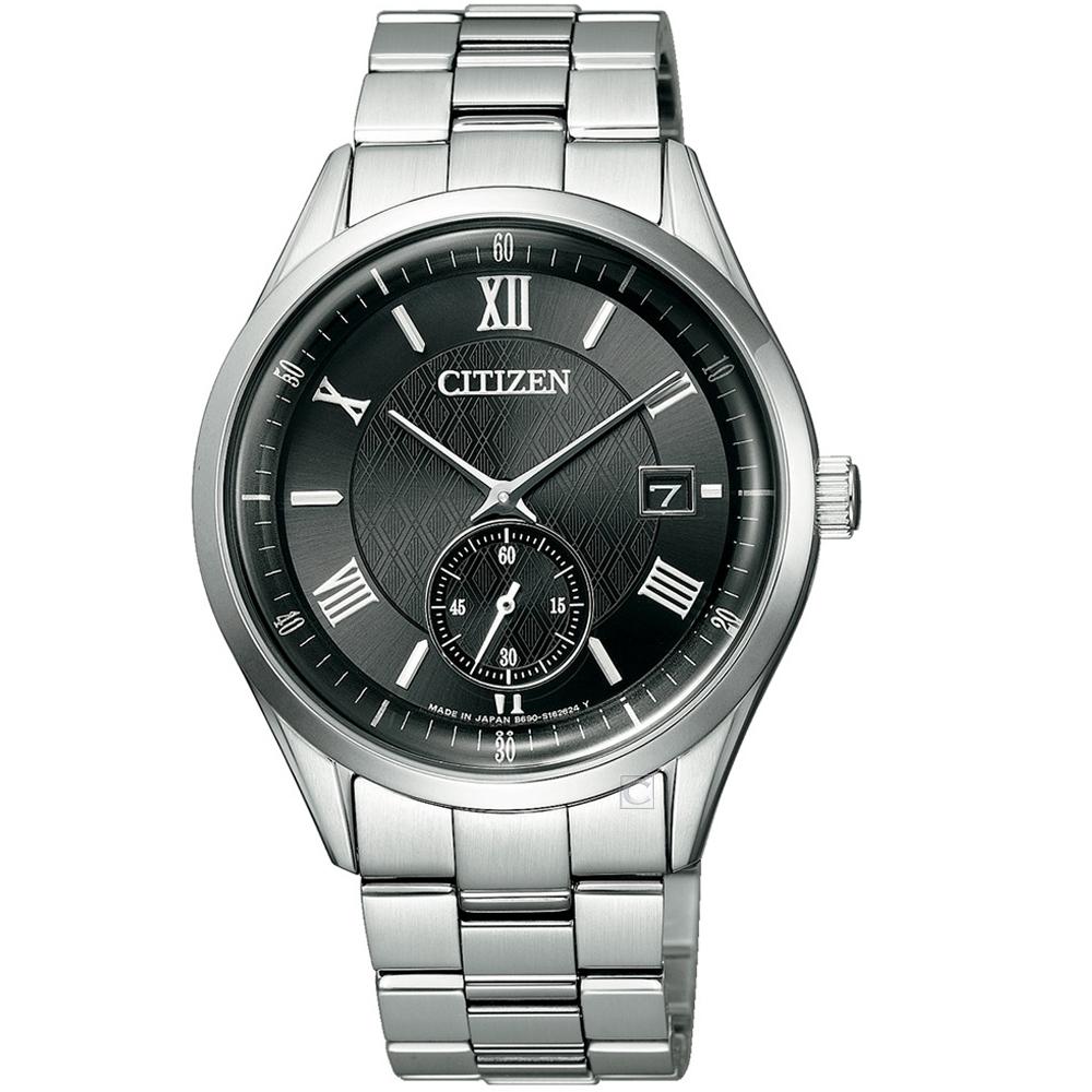 CITIZEN星辰菱紋時尚光動能手錶(BV1120-91E)