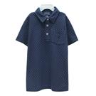 Ralph Lauren 大童經典小馬點點短袖POLO衫-藍色(XL/18-20歲)
