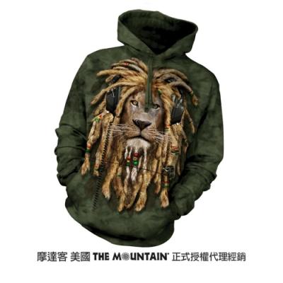 摩達客 美國進口The Mountain DJ加滿獅  長袖連帽T恤
