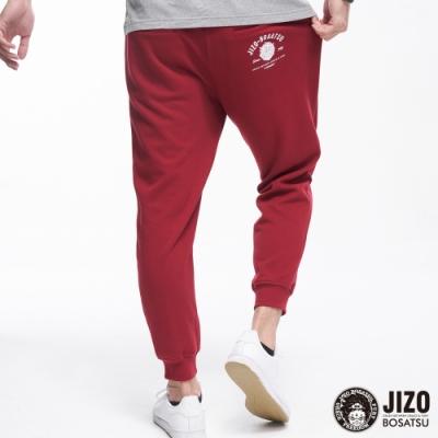 地藏小王 BLUE WAY -紅白基本LOGO棉長褲