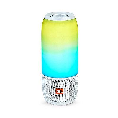 JBL Pulse 3 可攜式防水燈光炫彩藍牙喇叭 白色款
