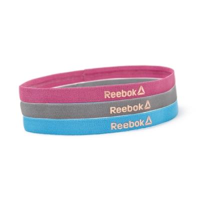 Reebok 運動髮帶三件組(藍、粉、灰)