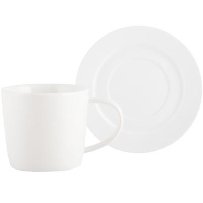 《CreativeTops》Mikasa經典瓷製杯碟組(白250ml)