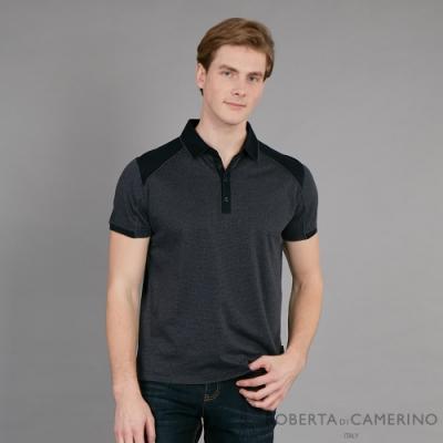 ROBERTA諾貝達 台灣製 穿搭更有型 純棉短袖POLO棉衫 黑色