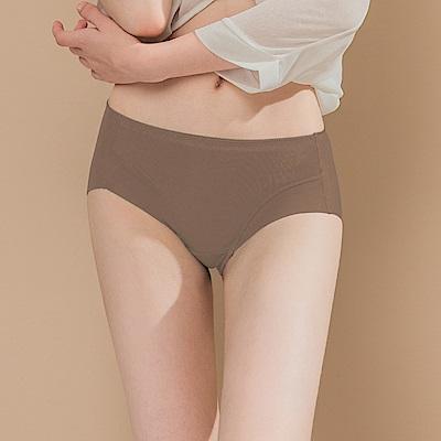 無痕透氣超健康竹炭包臀中腰M-XL內褲 自傲深棕 可蘭霓Clany
