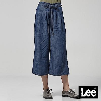 Lee 牛仔寬褲-深藍色洗水
