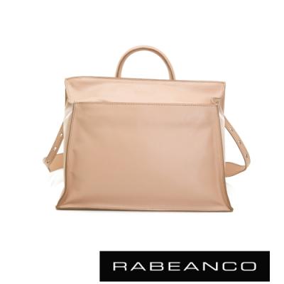 RABEANCO KAMI方型牛皮斜背手提包 粉