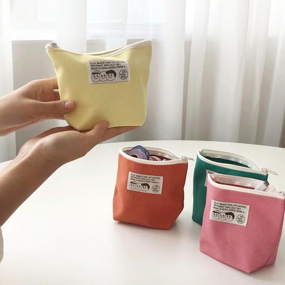 oh lolly day 橘子三兄弟三角化妝包-檸檬黃