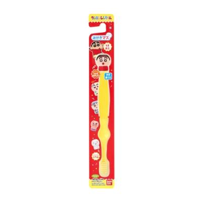 日本Bandai-蠟筆小新牙刷5入(附公仔握柄套)(3Y+/公仔共5種,採隨機出貨)