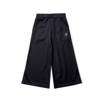 FILA KIDS 女童針織9分寬版褲-黑 5PNT-8410-BK