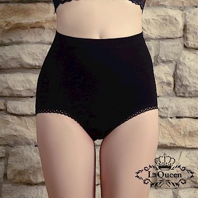 塑褲 萊卡環型塑腰彈力蠶絲塑褲-黑 La Queen