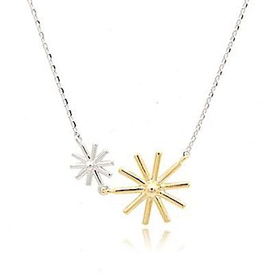 Hera 赫拉 太陽的後裔宋慧喬款雙色太陽花項鍊/鎖骨鍊(銀色)