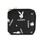 PLAYBOY-  ㄇ形拉鍊短夾 Refresh活力兔系列 -黑色
