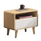 文創集 羅斯特現代1.8尺單抽床頭櫃/收納櫃-55x42x55cm免組