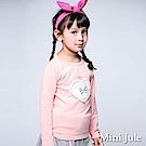 Mini Jule 上衣 蕾絲愛心蝴蝶結皇冠珠珠長袖上衣(豆粉)