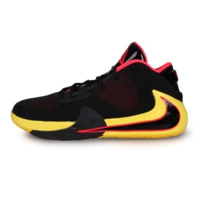 NIKE 女款大童籃球鞋 FREAK 1 黑黃螢光粉