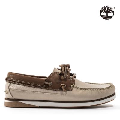 Timberland 男款淺米色Atlantis Break磨砂革帆船鞋|A2QGX