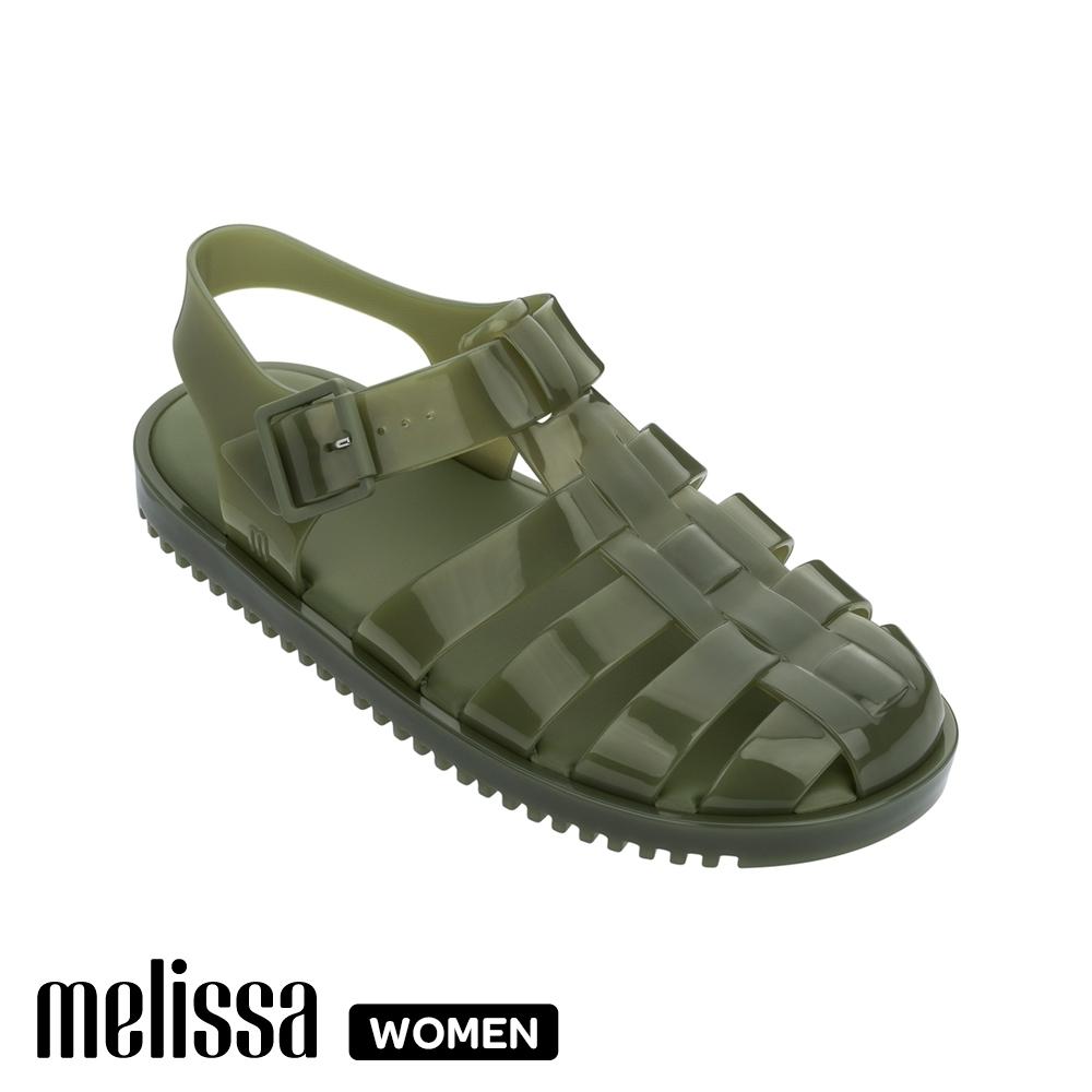 Melissa中性寬版漁夫鞋 綠