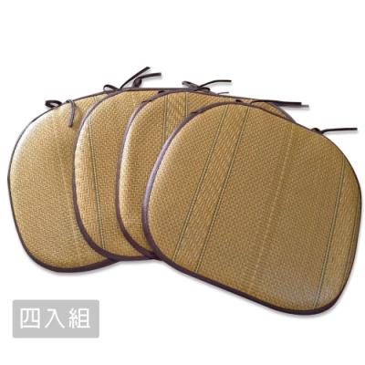 【范登伯格】仲夏頌 質草餐椅墊 -新藤園 (38 x 42cm)-四入組