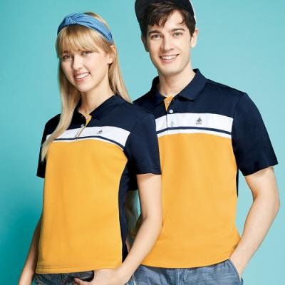 Spar雙棉吸排男版短袖POLO衫S208216金黃色