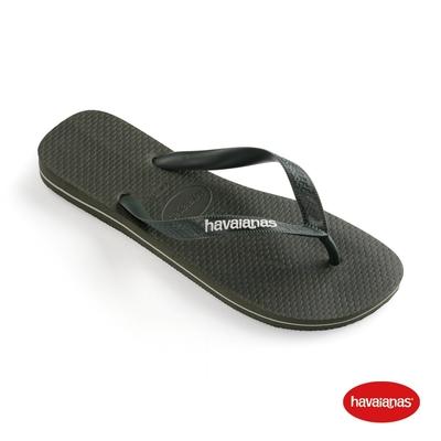 Havaianas 哈瓦仕 拖鞋 夾腳拖 人字拖  巴西 男鞋 橄欖綠 4108555-4896M Top Logo Filete