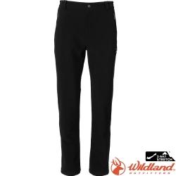 Wildland 荒野 0A72318-54黑色 男SOFTSHELL保暖褲/防潑水