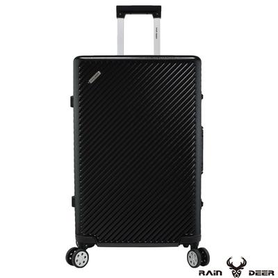 RAIN DEER 時尚巴黎29吋PC+ABS鋁框行李箱-經典黑