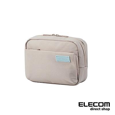 ELECOM 帆布多功能側背包OF03-卡其